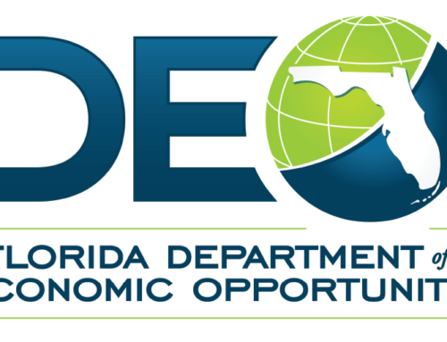 Processing checks from the Florida Department of Economic Opportunity